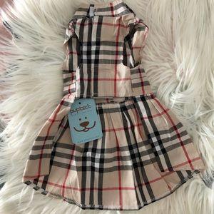 Puptech Other - Burberry Print Dog Dress